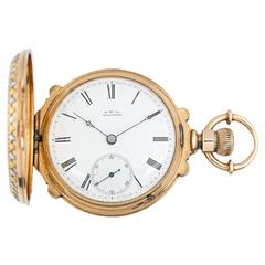 18 Karat Gold Waltham Railroad Watch