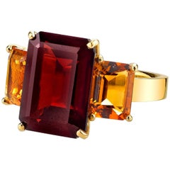 Garnet and Citrine Ring
