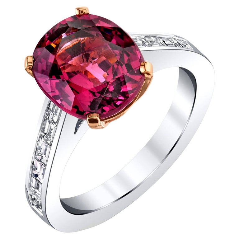 Pink Spinel Diamond white gold Ring For Sale