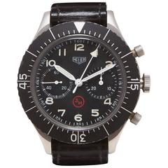 Heuer Stainless Steel Flyback Chronograph Manual Wind Wristwatch