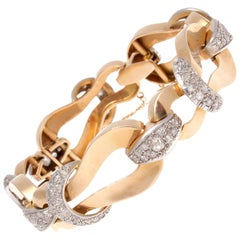 Retro Diamond Gold Bracelet