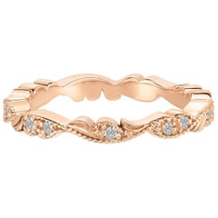 Marisa Perry's Rose Gold Diamond Chantilly Lace Band Ring