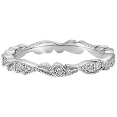 Marisa Perry Diamond Platinum Chantilly Lace Band Ring