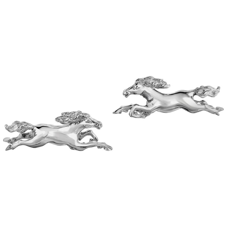 Marisa Perry's Running Horse Cufflinks in Sterling Silver 1