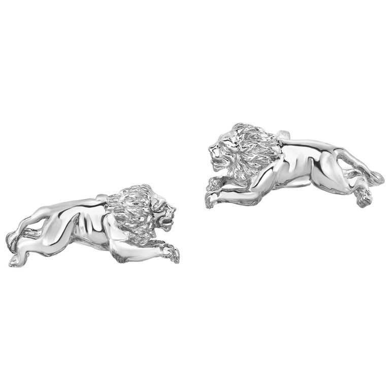 Marisa Perry's Sterling Silver Diamond Lion Cufflinks 1