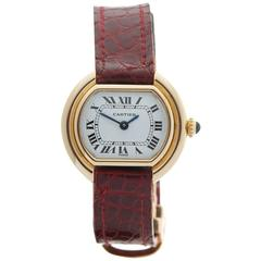 Cartier Ellipse 18 Karat Yellow Gold Ladies 670812363, 1990s
