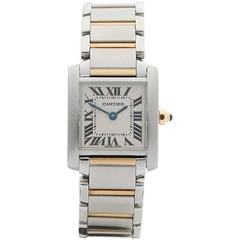 Cartier Tank Francaise Stainless Steel and 18 Karat Gold Ladies 2300, 2010s