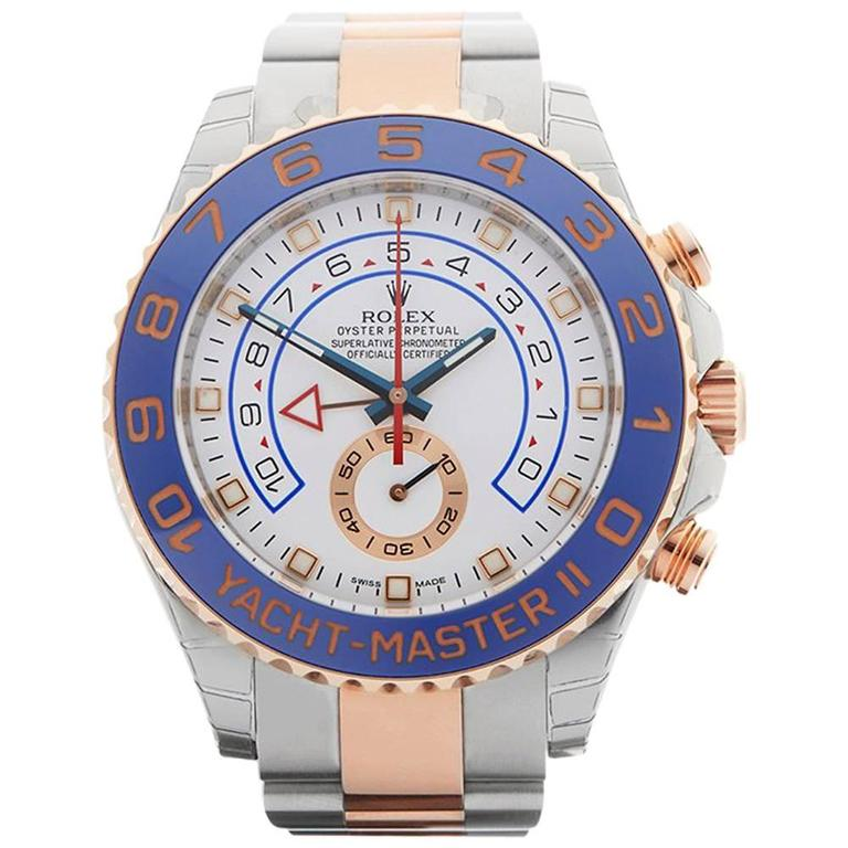 Rolex Yacht-Master II Stainless Steel and 18 Karat Rose Gold Gents 116681, 2016