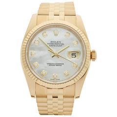 Rolex Datejust 18 Karat Yellow Gold Unisex 116238, 2013