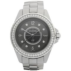 Chanel J12 Chromatic Grey Ceramic Ladies H2565, 2010s