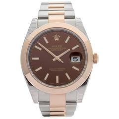 Rolex Datejust 41 Stainless Steel and 18 Karat Rose Gold Gents 126301, 2016