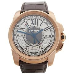 Cartier Calibre Central Chronograph 18 Karat Gold Gents 3242 or W7100004, 2017