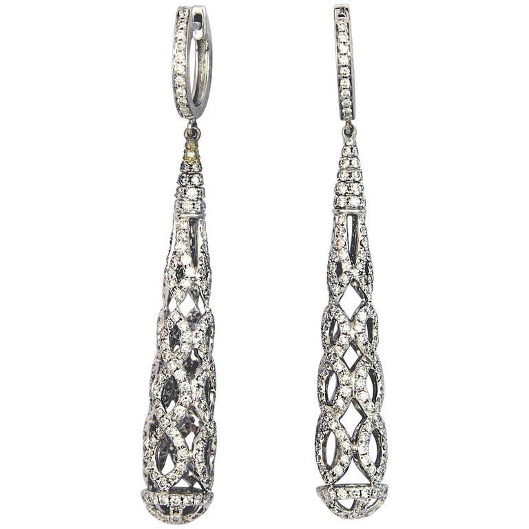 Diamond Hanging Earrings For