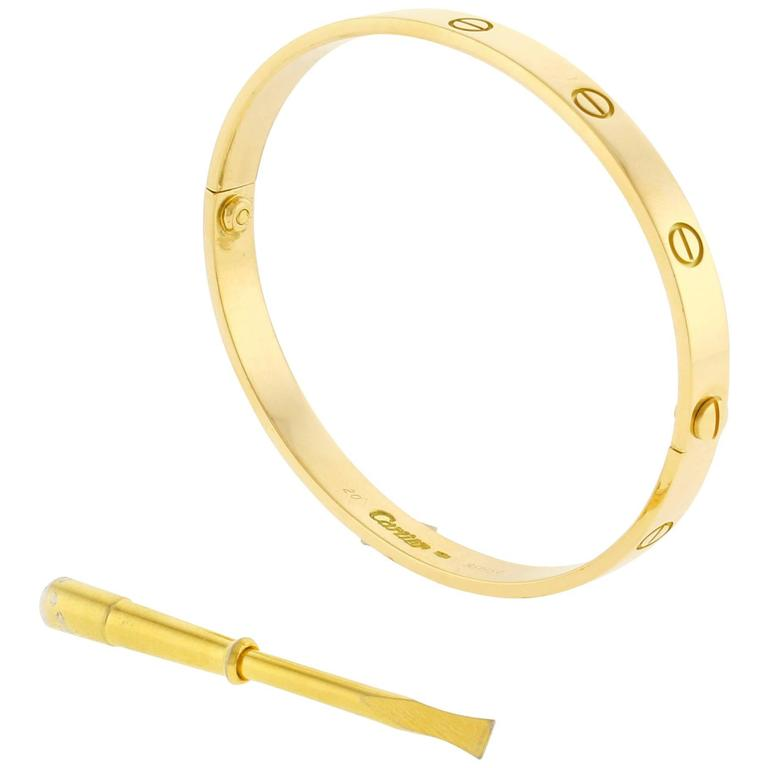 Cartier Yellow Gold Love Bracelet For Sale