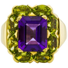 Amethyst and Peridot Dinner Ring