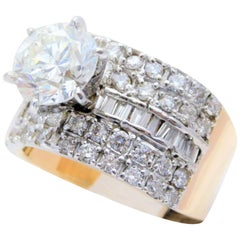 Unique 5.07 Carat GIA Certified Diamond Cocktail Ring
