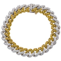 Gold Bracelet with Yellow Sapphires and Diamonds