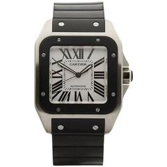 Cartier Santos 100 Extra Large Stainless Steel Gents 2656 Or W20121U2, 2010s