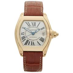Cartier Roadster 18 Karat Yellow Gold Gents 2524 or W62005V2, 2009