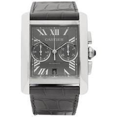 Cartier Tank MC Chronograph Stainless Steel Gents 3666 or W5330007, 2010s