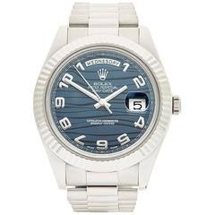 Rolex Day-Date II 18 Karat White Gold Gents 218239, 2009