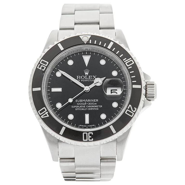 Rolex Submariner Stainless Steel Gents 16610, 2007 For Sale