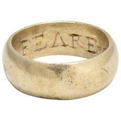 'Feare God' Poesy Ring