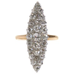 Antique Victorian Lozenge Gold Carat Diamond Ring