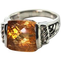 Rare Imperial Topaz Ring
