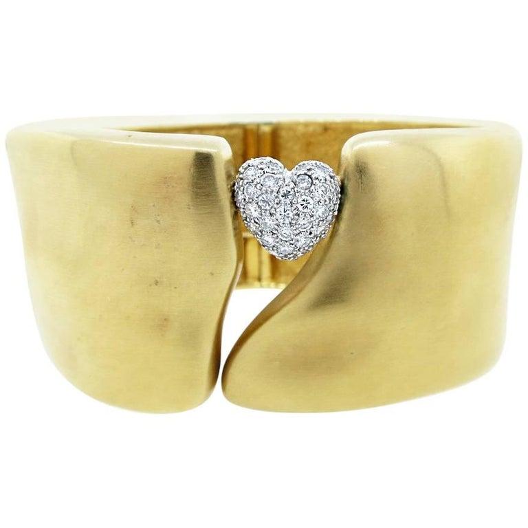 Marlene Stowe Diamond Heart Cuff Bracelet