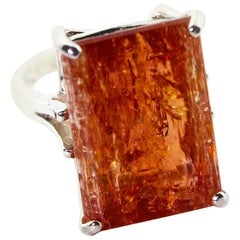 Brilliant Rare Imperial Topaz Ring