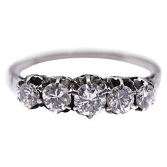 Art Deco Diamond Five-Stone Engagement Ring