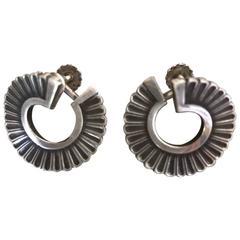 Georg Jensen Sterling Silver Earrings, No. 92