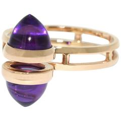Lizunova Amethyst Rose Gold Contemporary Cluster Ring