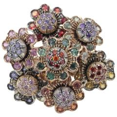 Luise Rose Gold Bouquet of Gemstone Ring