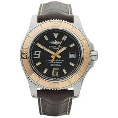 Breitling Superocean Duplicate Stainless Steel and 18 Karat Rose Gold Gents
