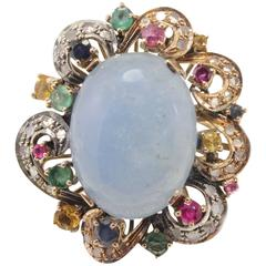 Luise Rose Gold Aquamarine Ruby Emerald Sapphire Diamond Ring