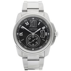 Cartier Calibre Stainless Steel Gents 3299 or W7100037, 2010s