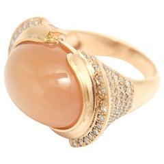 Moonstone Diamond Cocktail Ring