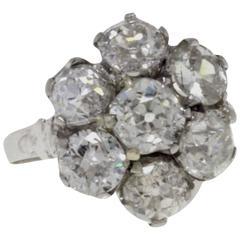 Luise Platinum Diamond Cluster Ring