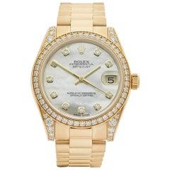 Rolex Datejust 18 Karat Yellow Gold Ladies 178158, 1991