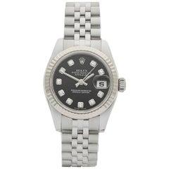 Rolex Datejust Stainless Steel and 18 Karat White Gold Ladies 179174, 2009