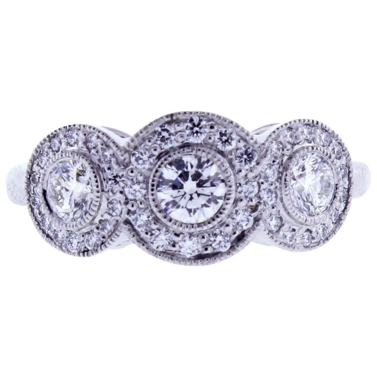 d55603b14 Tiffany and Co. Circlet diamond platinum Ring For Sale at 1stdibs