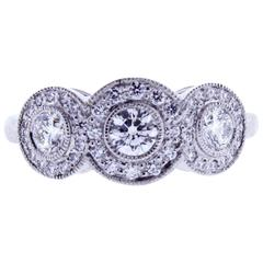 Tiffany & Co. Circlet diamond platinum Ring