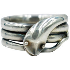 Antique Sterling Snake Ring