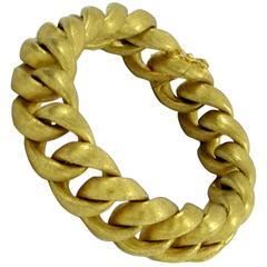 Florentine Finished Gold Curb Link Bracelet