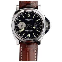 Panerai stainless steel Luminor GMT Automatic Wristwatch Ref PAM00088