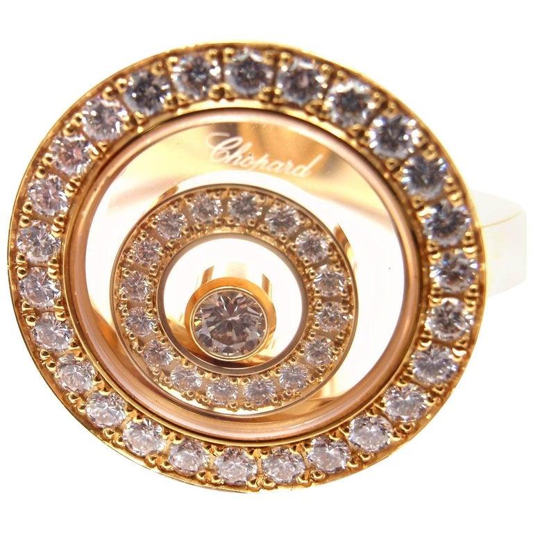 Chopard Happy Spirit Diamond Yellow Gold Ring