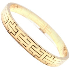 Hermes H Link Yellow Gold Bangle Bracelet