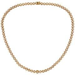 Van Cleef & Arpels Diamond Yellow Gold Necklace